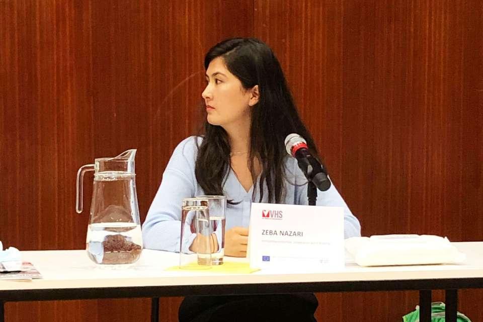 """Zeba Nazari, Vorstandsvorsitzende """"Integration durch Bildung""""."""